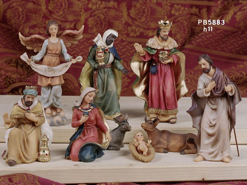 107F - Presepi - Natività Resina - Articoli Religiosi - Prodotti - Rebolab