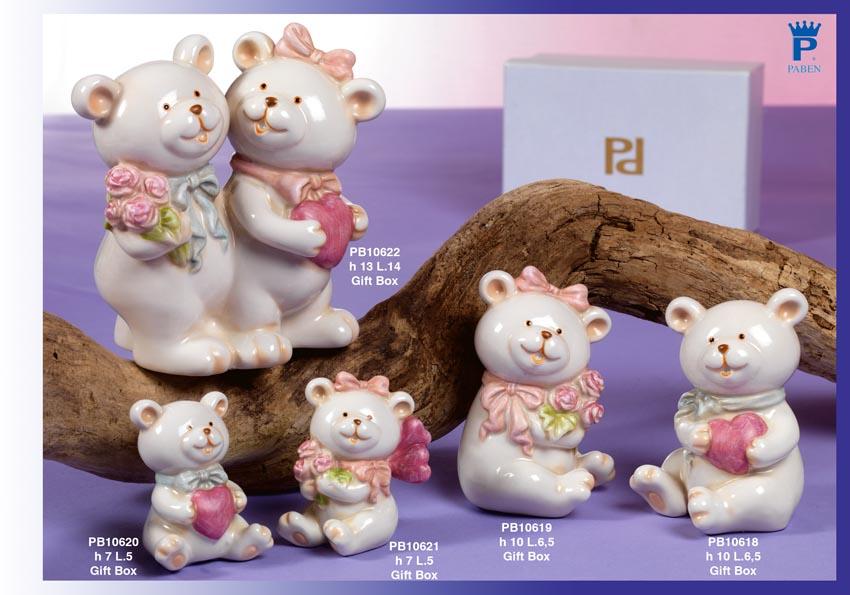 Paben - Prodotti - Articoli Regalo - Bomboniere Porcellana - Animaletti Porcellana - 15B6