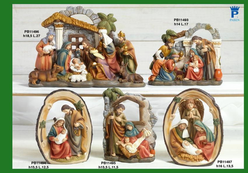 16D4 - Presepi - Natività Resina - Natale e Altre Ricorrenze - Prodotti - Rebolab