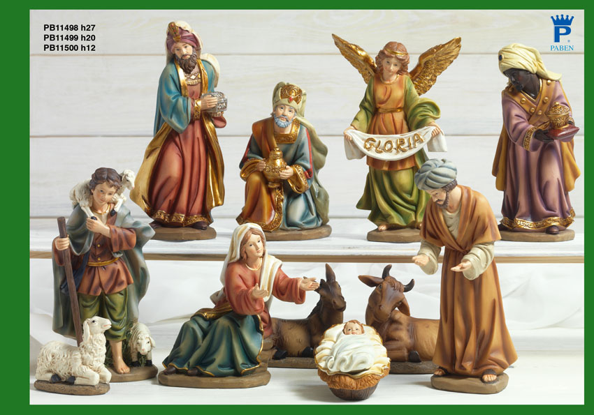 16D5 - Presepi - Natività Resina - Natale e Altre Ricorrenze - Prodotti - Rebolab