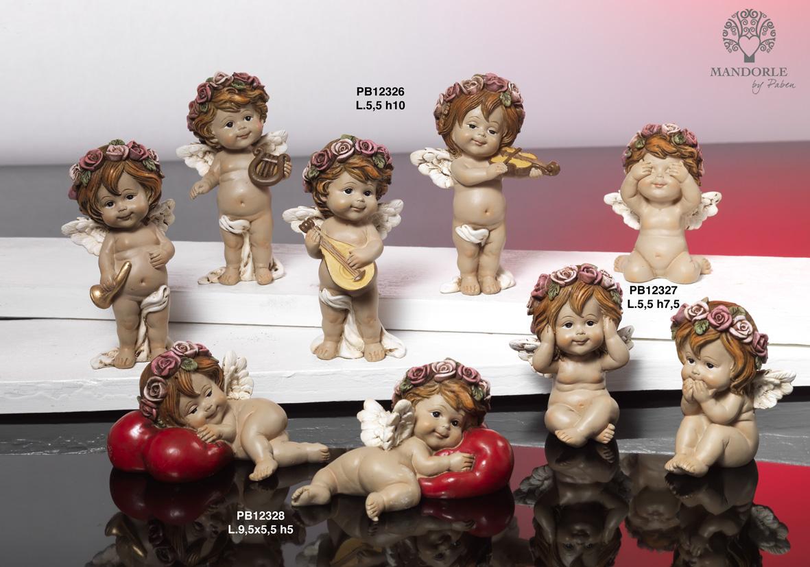 17C7 - Angeli Resina - Natale e Altre Ricorrenze - Prodotti - Rebolab
