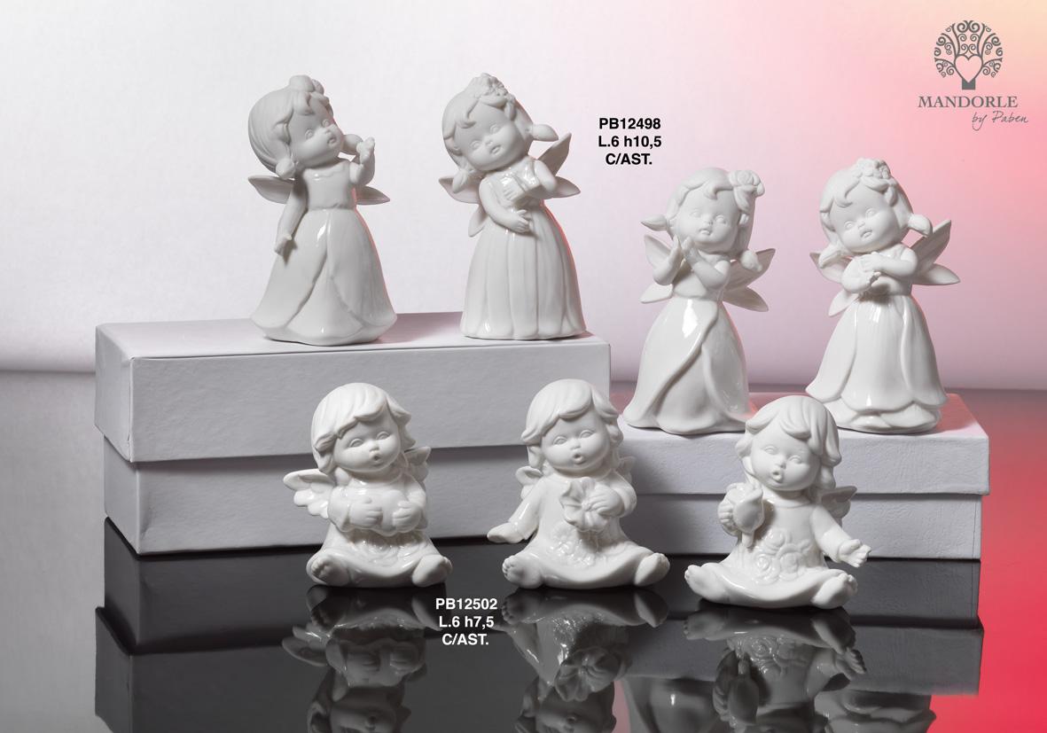 17EE - Angeli Porcellana - Mandorle Bomboniere  - Prodotti - Rebolab