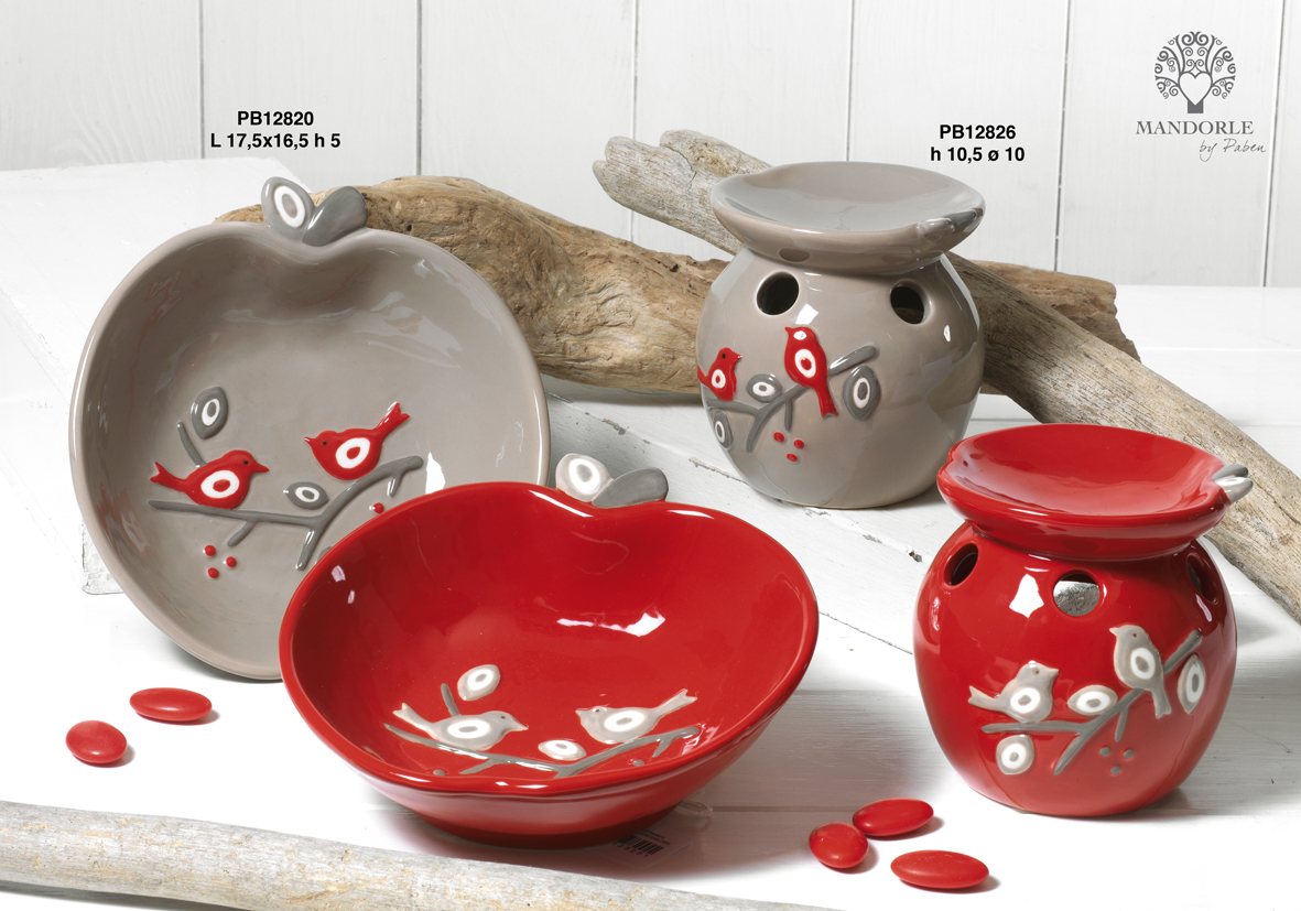 Paben - Prodotti - Articoli Regalo - Bomboniere Ceramica - Linee Bomboniera - Regalo Ceramica 'Mandorle' - 183F