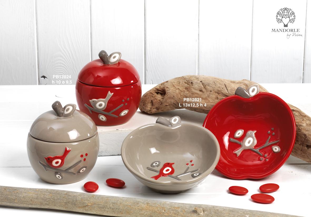 Paben - Prodotti - Articoli Regalo - Bomboniere Ceramica - Linee Bomboniera - Regalo Ceramica 'Mandorle' - 1840