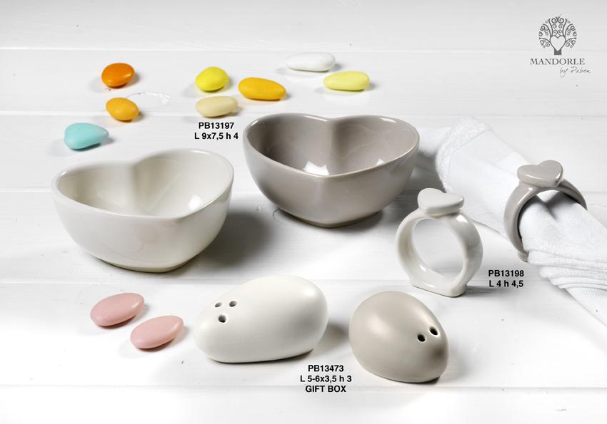 Paben - Prodotti - Articoli Regalo - Bomboniere Ceramica - Linee Bomboniera - Regalo Ceramica 'Mandorle' - 189F