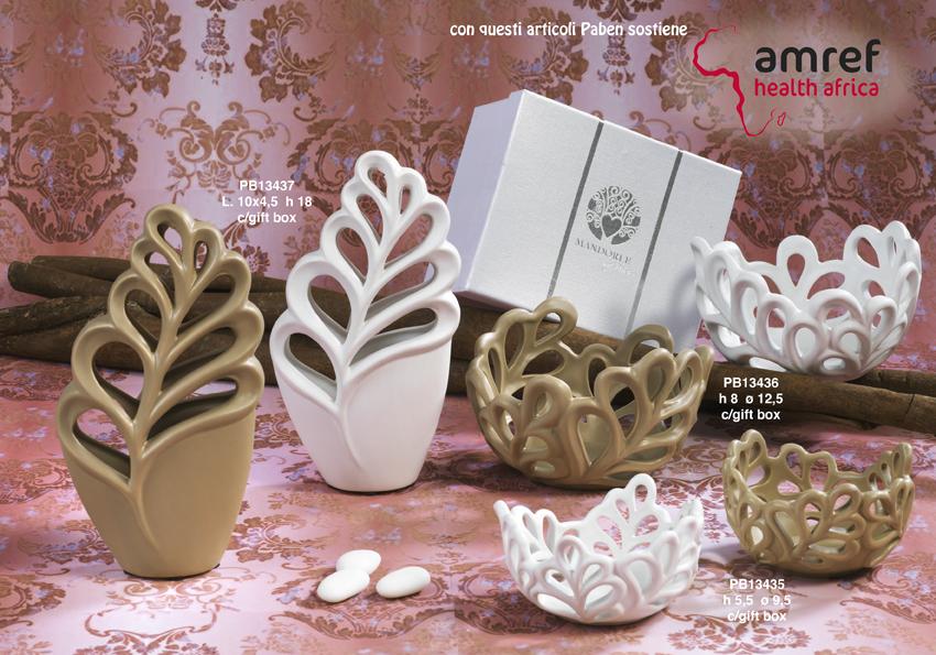Paben - Prodotti - Articoli Regalo - Bomboniere Ceramica - Linee Bomboniera - Regalo Ceramica 'Mandorle' - 18D9
