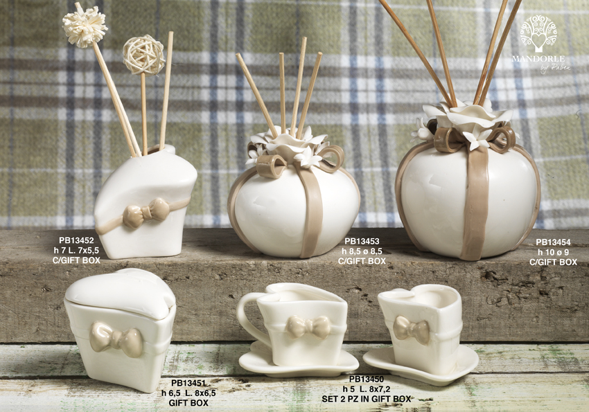 Paben - Prodotti - Articoli Regalo - Bomboniere Ceramica - Linee Bomboniera - Regalo Ceramica 'Mandorle' - 18DE