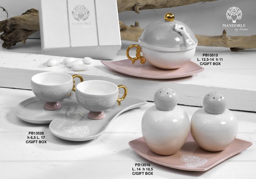 Paben - Prodotti - Articoli Regalo - Bomboniere Porcellana - Linee Bomboniera - Regalo Porcellana 'Mandorle' - 18EA
