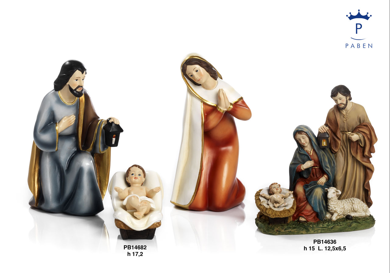 19F2 - Presepi - Natività Resina - Natale e Altre Ricorrenze - Prodotti - Rebolab