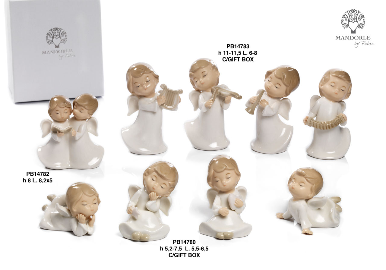 1A16 - Porcelain Angels - Christmas and Other Events - Offers - Paben