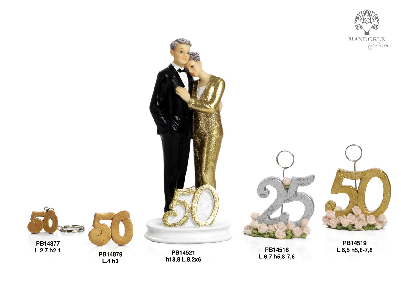 1A2D - Anniversari 25 - 50 anni - Mandorle Bomboniere  - Prodotti - Rebolab