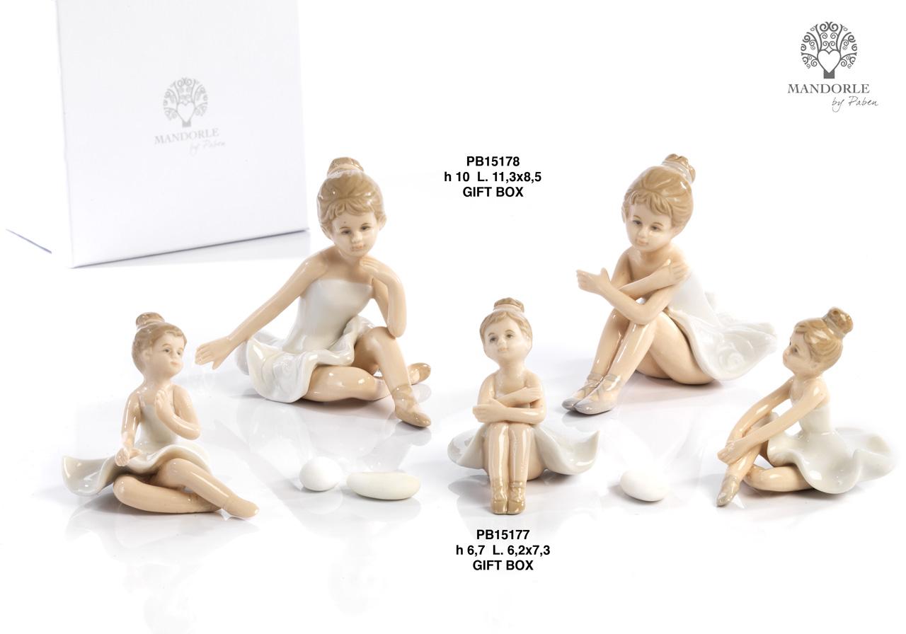 1A76 - Bambini - Fatine Porcellana - Mandorle Bomboniere  - Prodotti - Rebolab