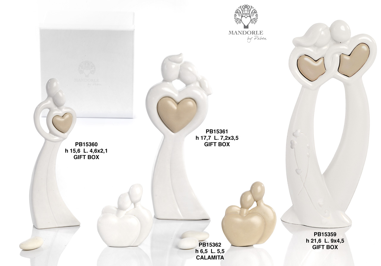 1AA5 - Lovers - Newlyweds Cake Topper - Mandorle Bonbonnieres - Offers - Paben