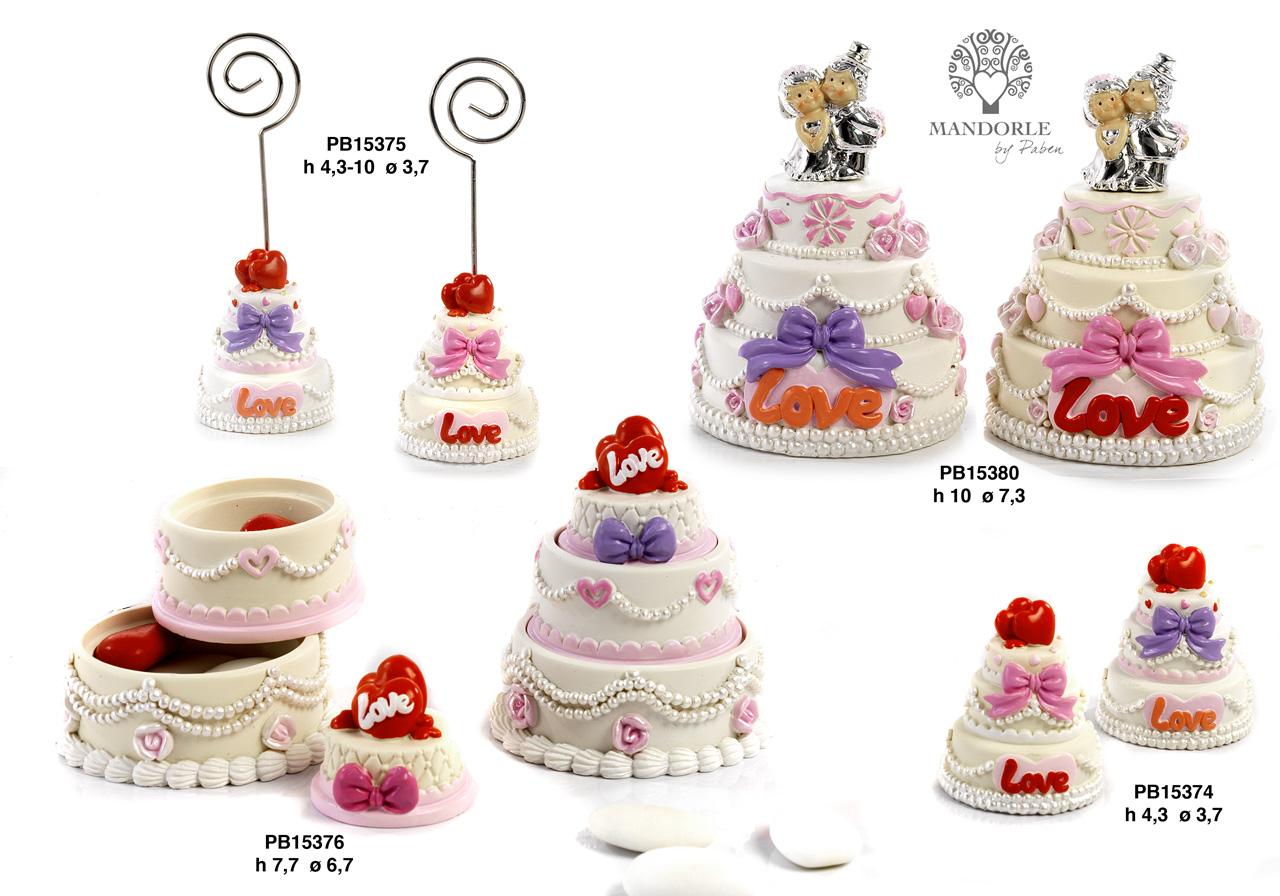 1AAB - Innamorati - Sposi Cake Topper - Mandorle Bomboniere  - Prodotti - Rebolab