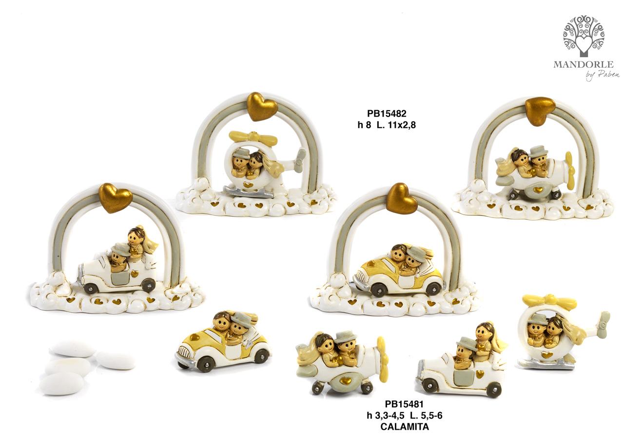 1AC2 - Innamorati - Sposi Cake Topper - Mandorle Bomboniere  - Prodotti - Rebolab