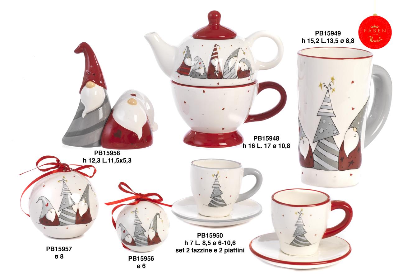 1B4D - Regali - Ceramiche Natalizie - Natale e Altre Ricorrenze - Novità - Paben