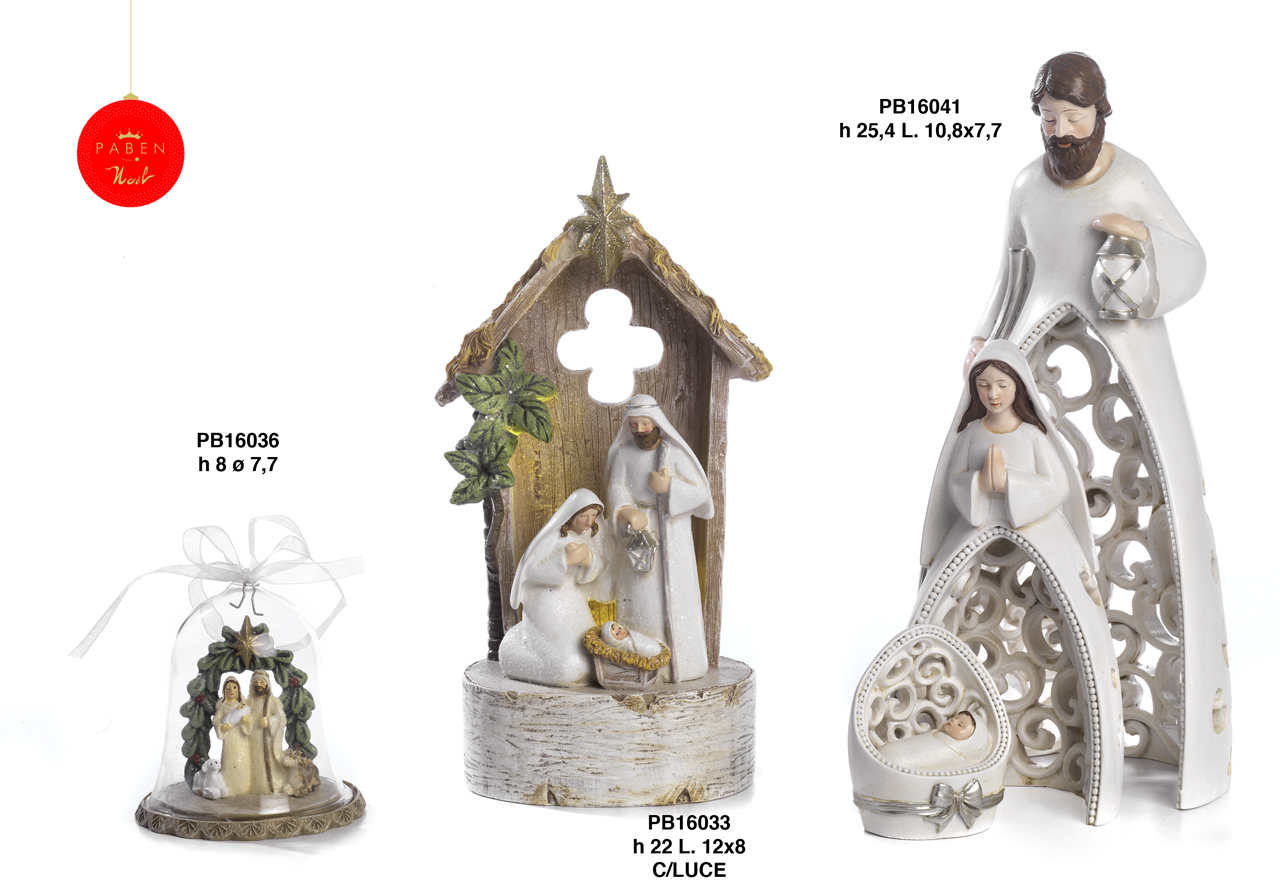 1B66 - Polyresin Cribs - Nativity Scenes - Christmas and Other Events - Offers - Paben