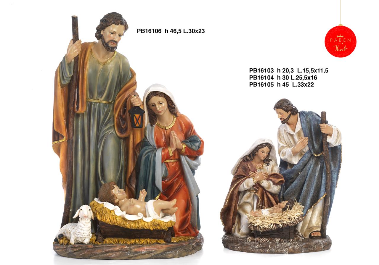 1B76 - Presepi - Natività Resina - Articoli Religiosi - Prodotti - Rebolab