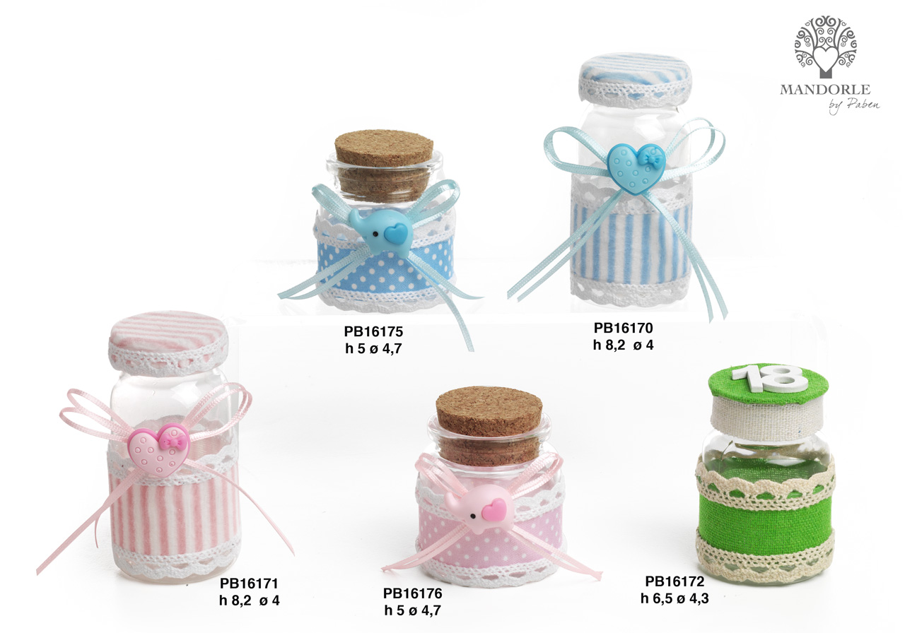 1B9A - Sugared Almonds Holders - Small Boxes - Mandorle Bonbonnieres - New arrivals - Paben