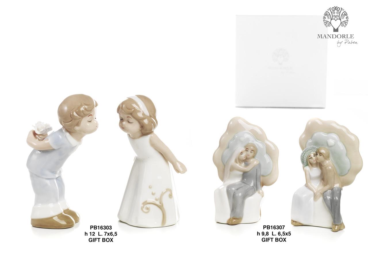 1BB2 - Bambini - Fatine Porcellana - Mandorle Bomboniere  - Prodotti - Rebolab