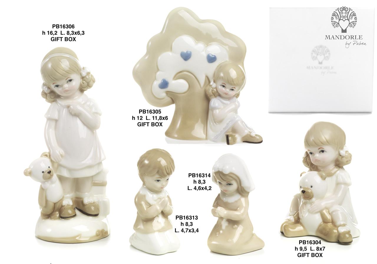 1BB3 - Bambini - Fatine Porcellana - Mandorle Bomboniere  - Prodotti - Rebolab