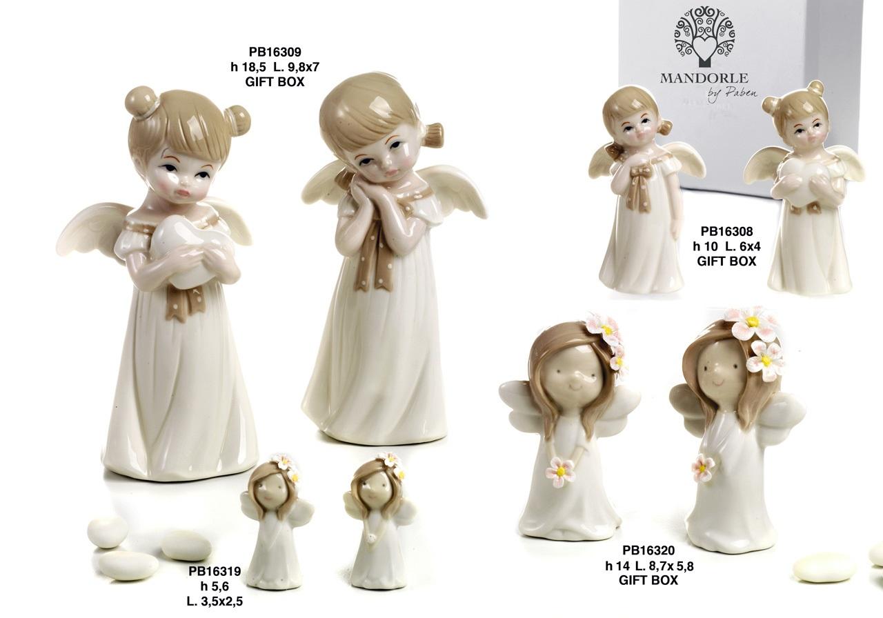 1BB4 - Bambini - Fatine Porcellana - Mandorle Bomboniere  - Prodotti - Rebolab
