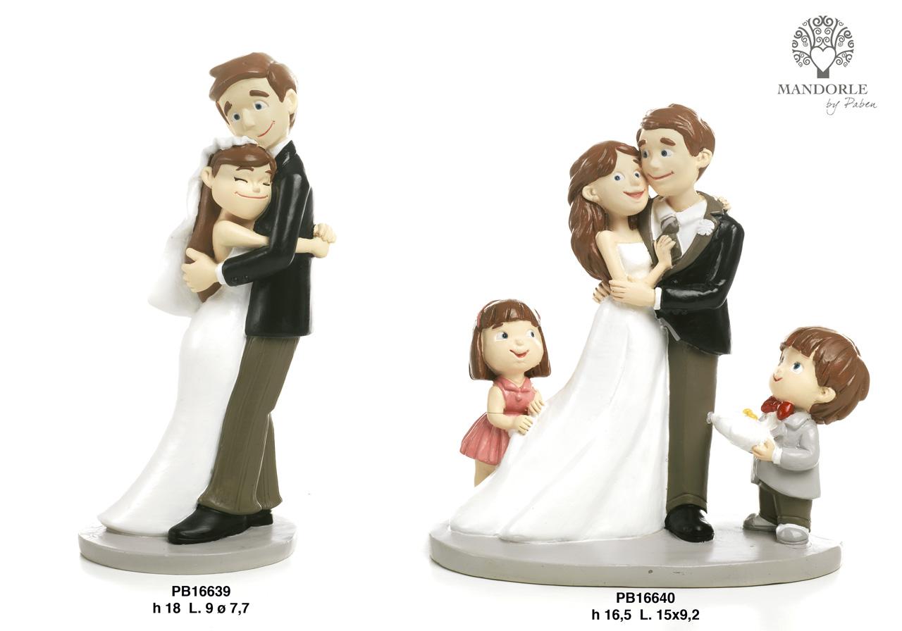 1C03 - Innamorati - Sposi Cake Topper - Mandorle Bomboniere  - Prodotti - Rebolab