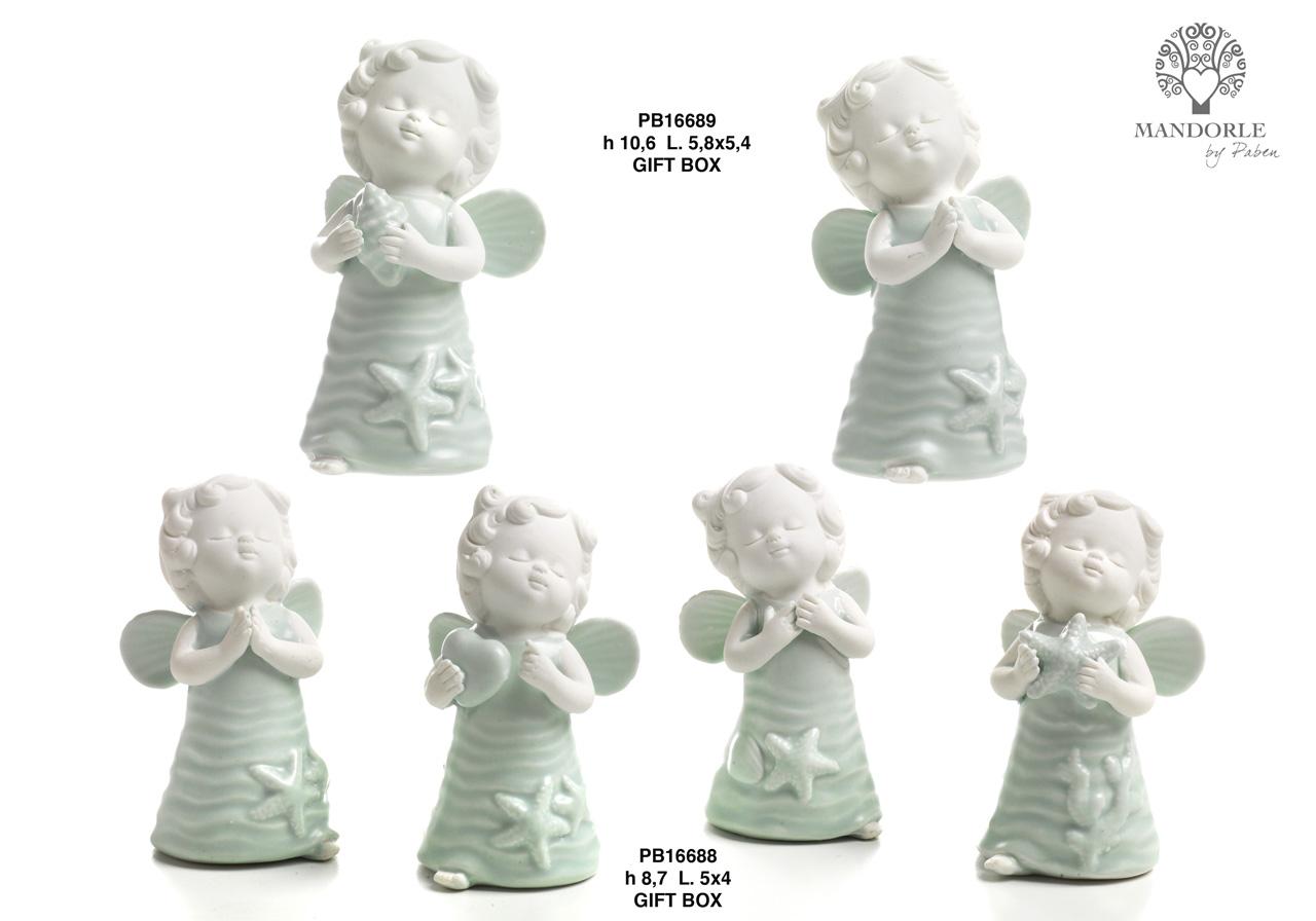 1C0B - Angeli Porcellana - Mandorle Bomboniere  - Prodotti - Rebolab