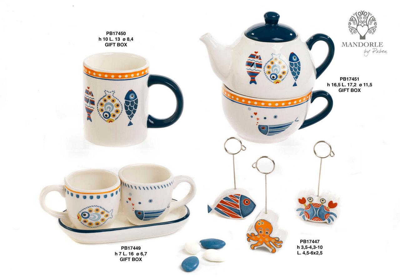 1CE9 - Collezioni Porcellana-Ceramica - Mandorle Bomboniere  - Novità - Paben