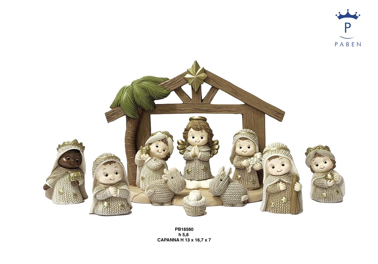 1E5E - Presepi - Natività Resina - Natale e Altre Ricorrenze - Novità - Paben