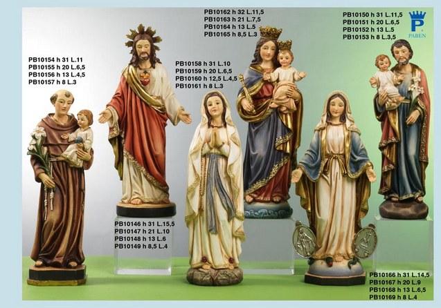 Paben Articoli Religiosi Statua Sacro Cuore di Gesù in Resina cm.21