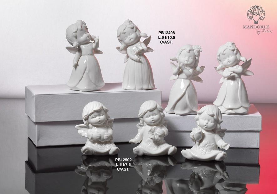 17EE - Angeli Porcellana - Mandorle Bomboniere  - Prodotti - Paben