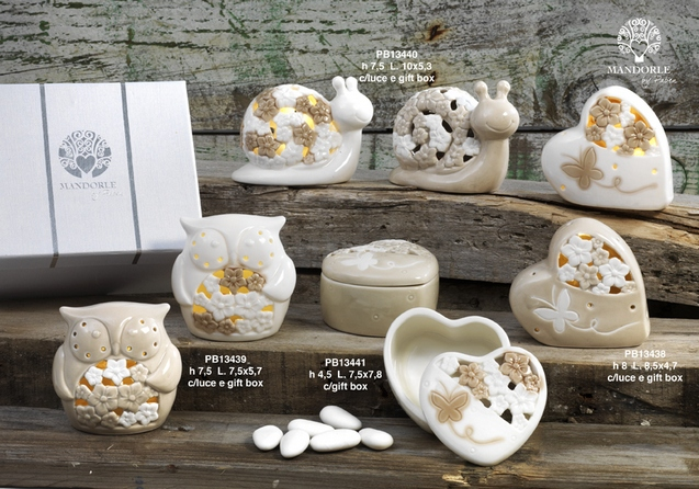 18DA - Collezioni Porcellana-Ceramica - Mandorle Bomboniere  - Prodotti - Paben