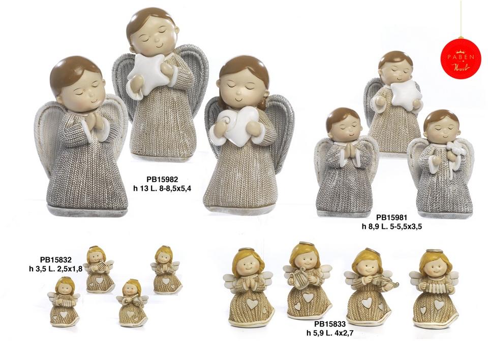1B28 - Angeli Resina - Natale e Altre Ricorrenze - Novità - Paben