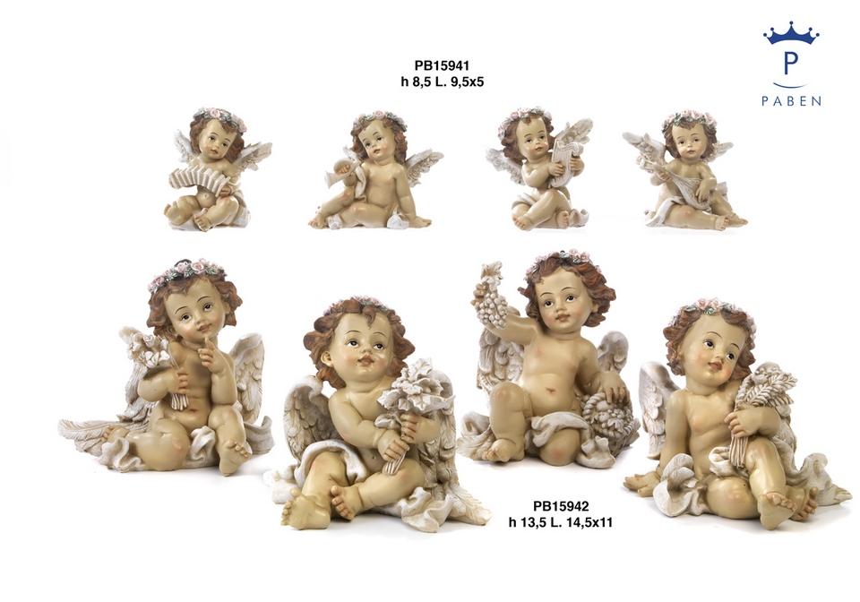 1B4B - Angeli Resina - Mandorle Bomboniere  - Prodotti - Paben