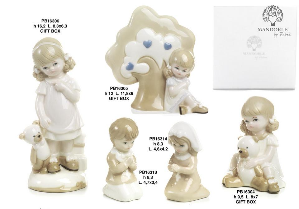 1BB3 - Bambini - Fatine Porcellana - Mandorle Bomboniere  - Prodotti - Paben