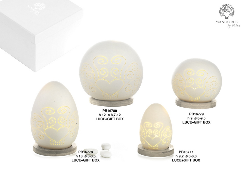 1C21 - Collezioni Porcellana-Ceramica - Mandorle Bomboniere  - Prodotti - Paben