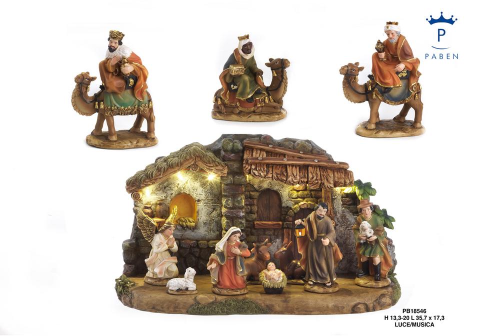 1E57 - Presepi - Natività Resina - Natale e Altre Ricorrenze - Novità - Paben