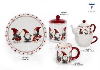 19E0 - Regali - Ceramiche Natalizie - Natale e Altre Ricorrenze - Prodotti - Paben