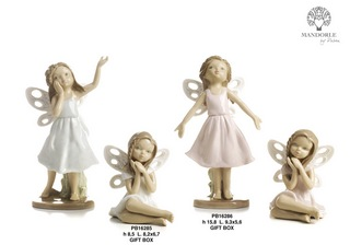 1BAE - Bambini - Fatine Porcellana - Mandorle Bomboniere  - Prodotti - Paben
