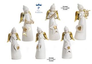 1C41 - Angeli Porcellana - Mandorle Bomboniere  - Prodotti - Paben