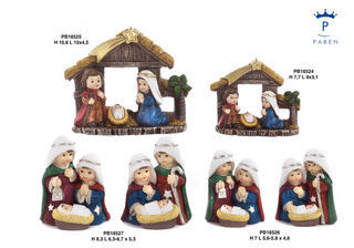 1E4C - Presepi - Natività Resina - Natale e Altre Ricorrenze - Prodotti - Paben