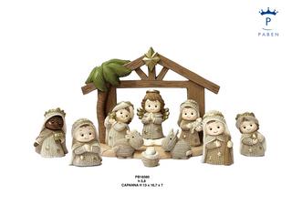 1E5E - Presepi - Natività Resina - Natale e Altre Ricorrenze - Prodotti - Paben